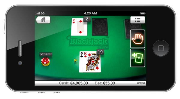 blackjack touch iphone